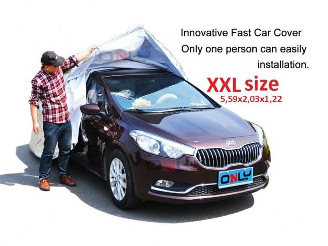Най-бързо поставящото се покривало за автомобил- FAST CAR COVER, размер XXL