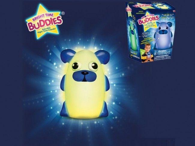 Мека нощна лампа за гушкане Bright Time Buddies