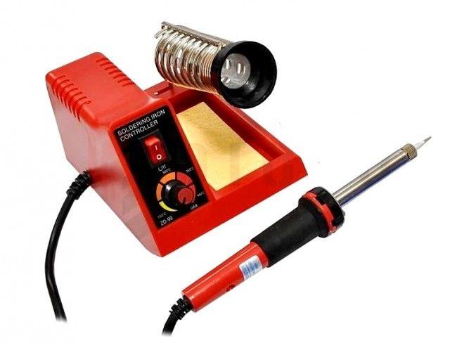 Професионален поялник-станция среден размер с регулируема температура 100-450 °C ZD-99