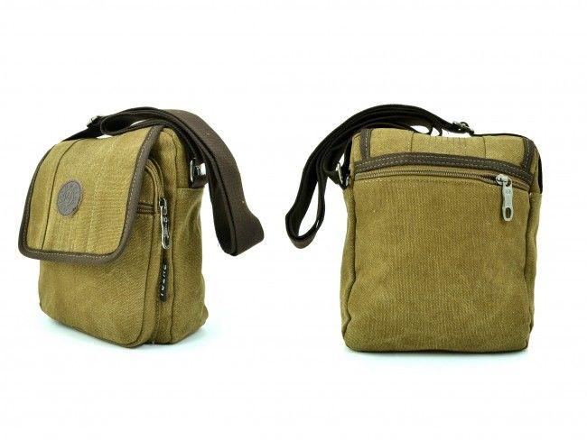 Мъжка чанта - 1607 Light BROWN за през рамо