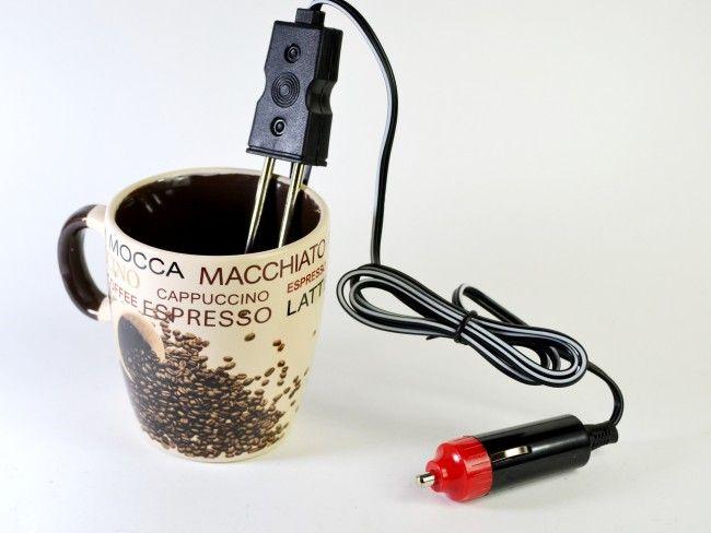 Мощен бързовар 200 W за чай/кафе, захранван от автозапалка 12V