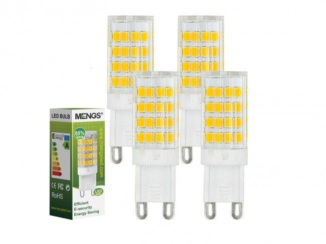 Мощна и икономична LED крушка G9 5W ~220V 3500K топла жълтеникава светлина