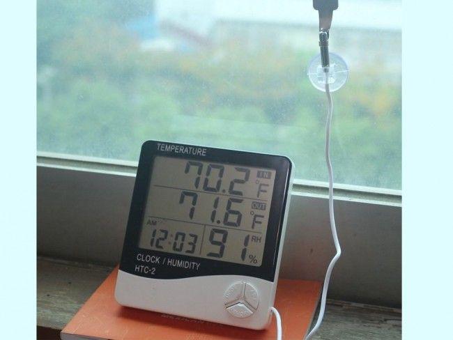 МЕТЕОСТАНЦИЯ HTC 2: термометър, хидрометър, часовник, датчик за външна температура