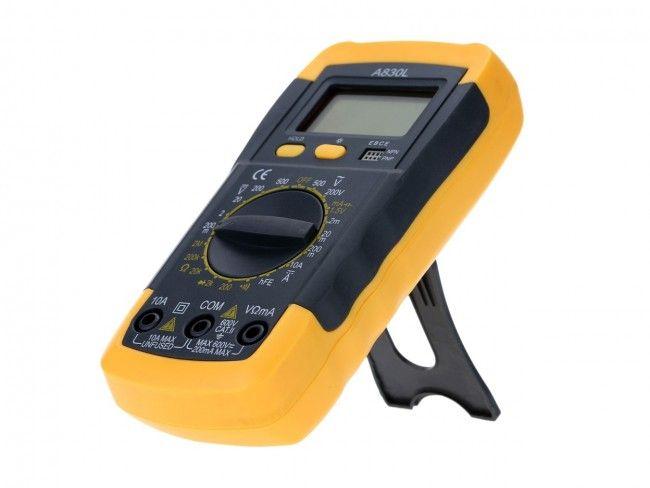 Комбиниран електронен измервателен уред - Мултицет A830L, 1 бат. 9V