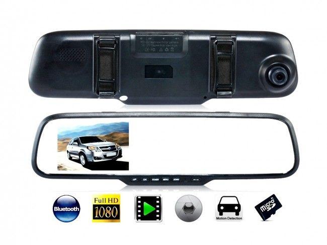 Автомобилно огледало 4.3'' с ДВЕ камери Vehicle Blackbox DVR Full HD 1080P