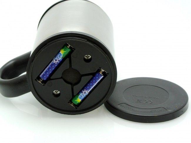 Саморазбъркваща метална чаша - миксер. 2 батерии AA-подарък