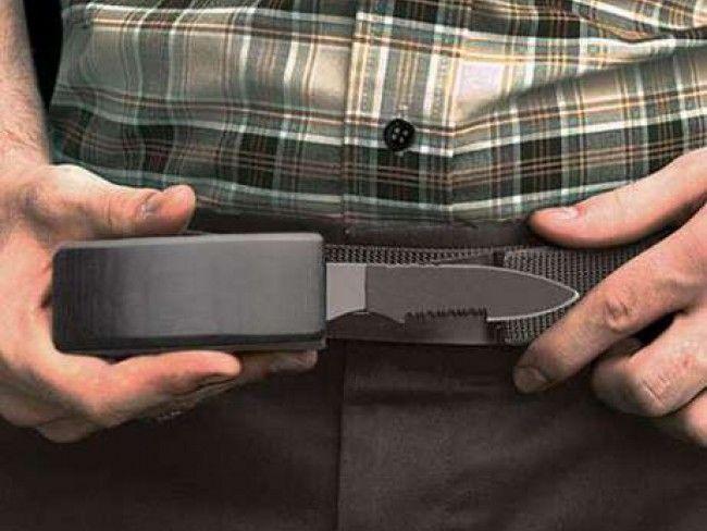 Рядък модел : BELT KNIFE DV-01 - нож, скрит в токата на универсален размер колан