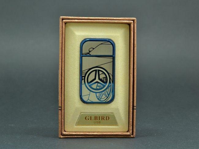 Елегантна USB запалка GLBIRD с вградена батерия, метален корпус и подаръчна кутия +ПОДАРЪК