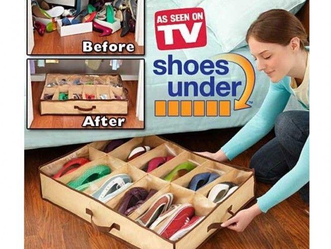 Супер удобен органайзер за подреждане на 12 чифта обувки Shoes Under