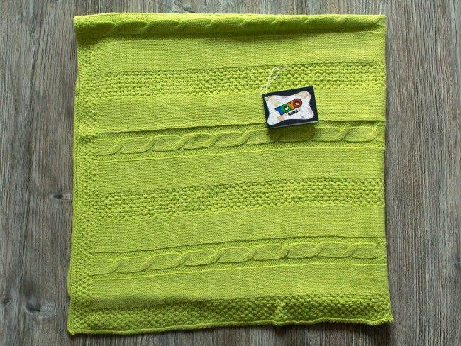 Топло антиалергично плетено бебешко одеяло Yo Yo Kids 90 х 90 см- ЗЕЛЕНО, 769