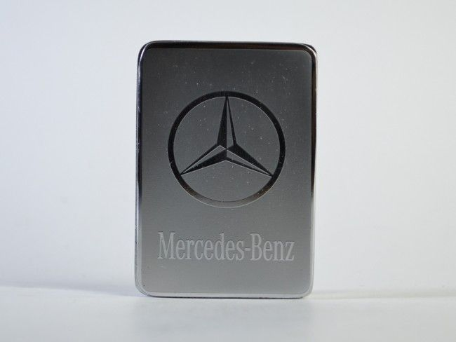 Метална ел. запалка MERCEDES SILVER с вградена презареждаема батерия, в подаръчна кутия