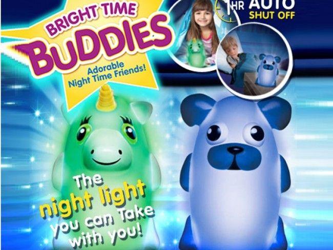 Мека нощна лампа за гушкане Bright Time Buddies - ЕДНОРОГ