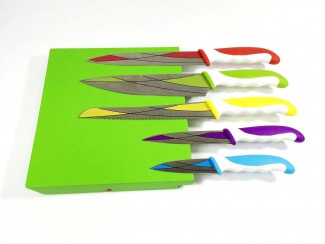 Пълен кухненски сет ножове BOLOCO LIFE 1792 заедно с  дървена магнитна дъска-стойка