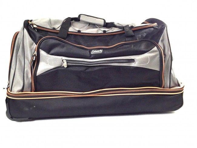 Огромен пътнически сак-куфар с двойно дъно, колелца и дръжка GREY SPORT 21268 COLEMAN