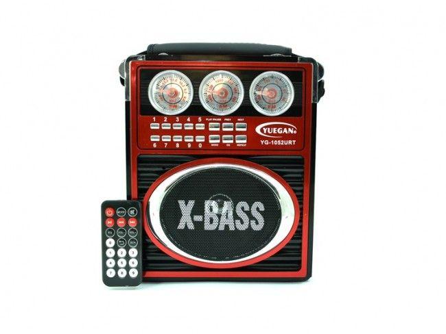 Преносима акумулаторна аудио система YUEGAN YG-1052 URT AM/FM/SW/MP3/AUX/USB/SD CARD slot
