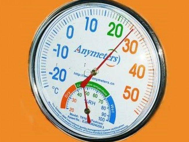 Голям стрелкови термометър с хигрометър за температура и влага със самостояща стойка