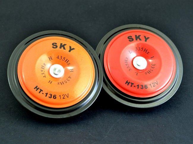 Двутонален комплект кръгли TUNING RED клаксони 032