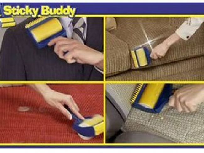 STICKY BUDDY ще те избави от косми и боклуци у дома