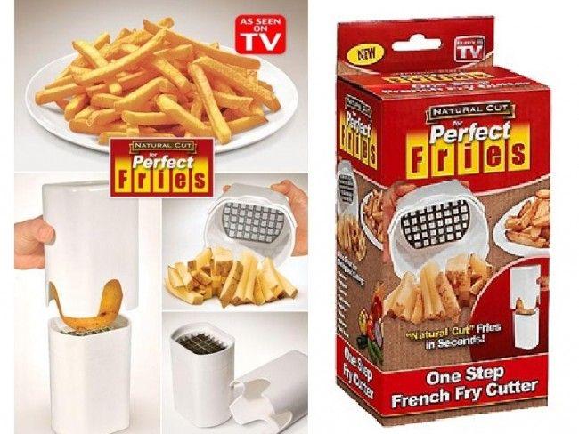 Перфектно нарязани пържени картофки за секунди с пресата - ренде Perfect FRIES