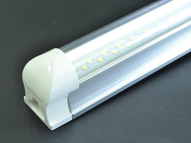 LED осветително тяло тип ПУРА T8 с алуминиев гръб и прозрачно стъкло 120 см, 18W, 2000Lm