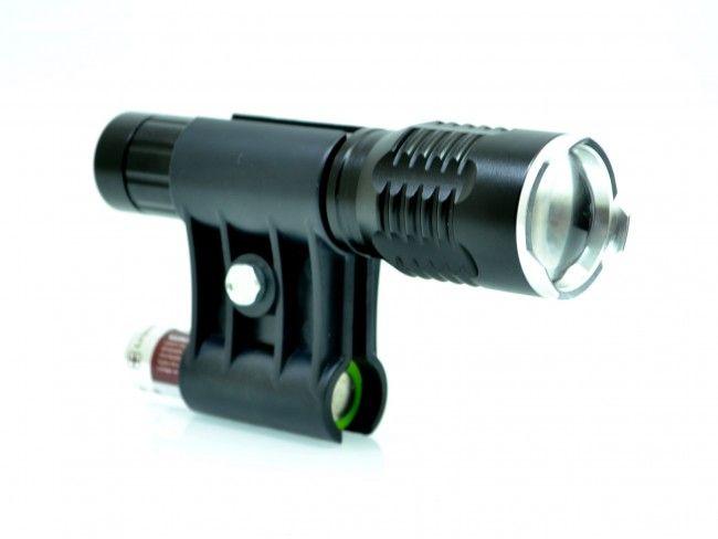 LED фенер CREE T6 със стойка за цев на огнестрелно оръжие и дистанционно управление