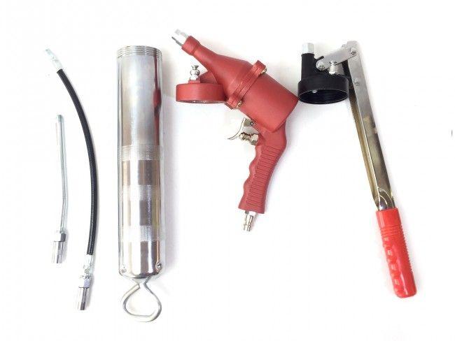 Професионален гресиращ пистолет LM03 с пневматичен и с ръчен накрайник