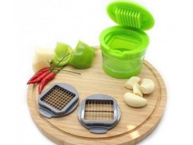 Garlic chopper - специализирана преса за чесън с контейнер и две приставки