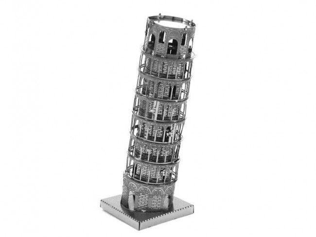 Метален 3D пъзел модел за деца над 14 г. Наклонената кула в Пиза