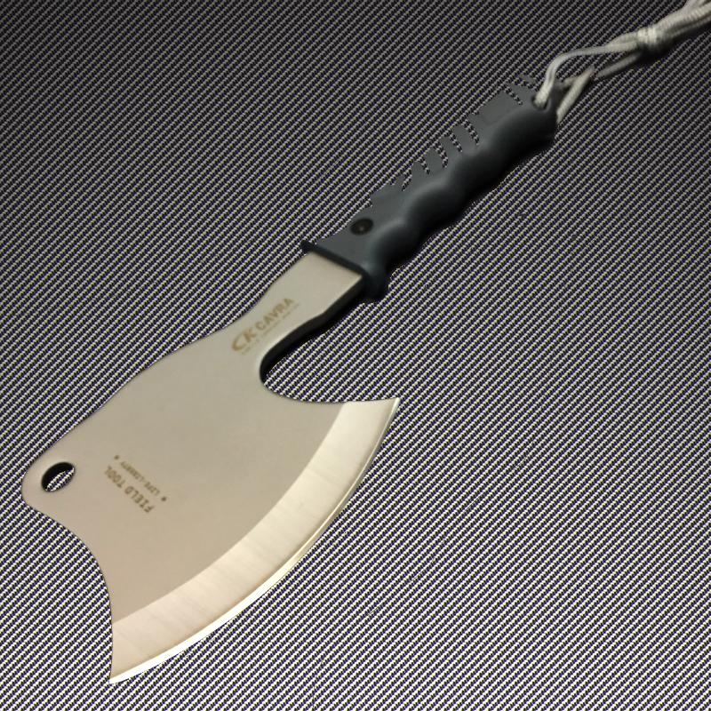 Тежка стоманена многофункционална японска брадва CARVA CURVED F01 от Sanjia Knife & Tool