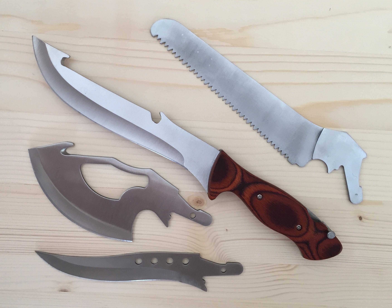 Азиатски ТРАНСФОРМЪР - 4 в 1 остриета за всяка ситуация - нож, мачете, брадва, трион