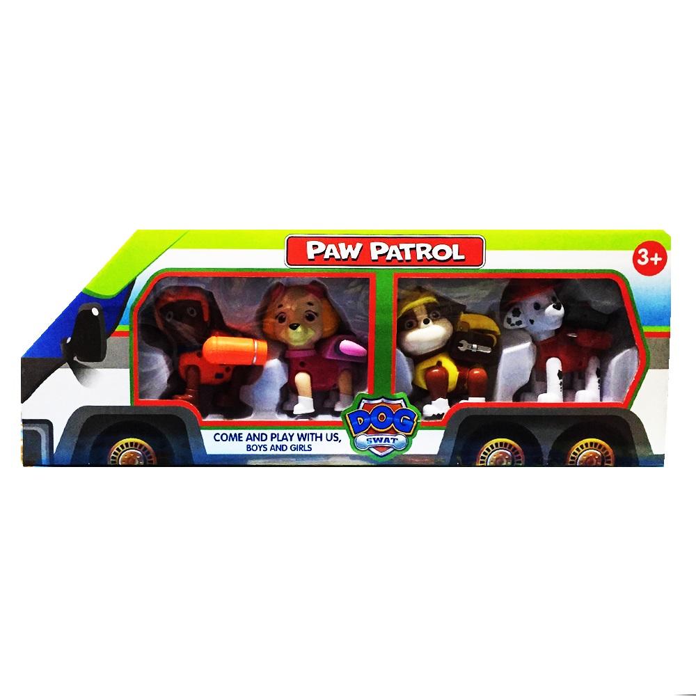 Подаръчен комплект 4 кученца PAW PATROL
