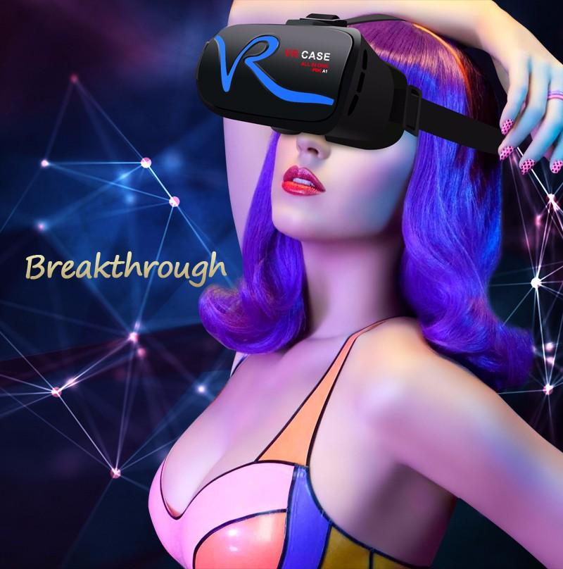 Най-новите 3D Очила за – VR CASE RK-A1, с вграден пулт за управление