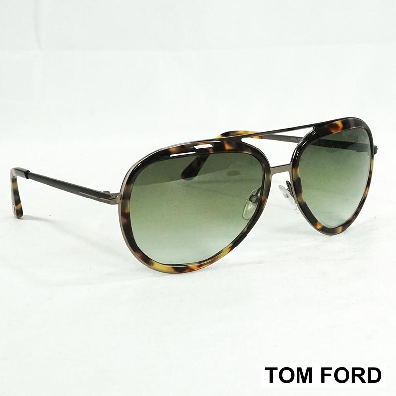 Унисекс слънчеви очила TOM FORD ANDY TF0468 053P Havanа, Green Gradient