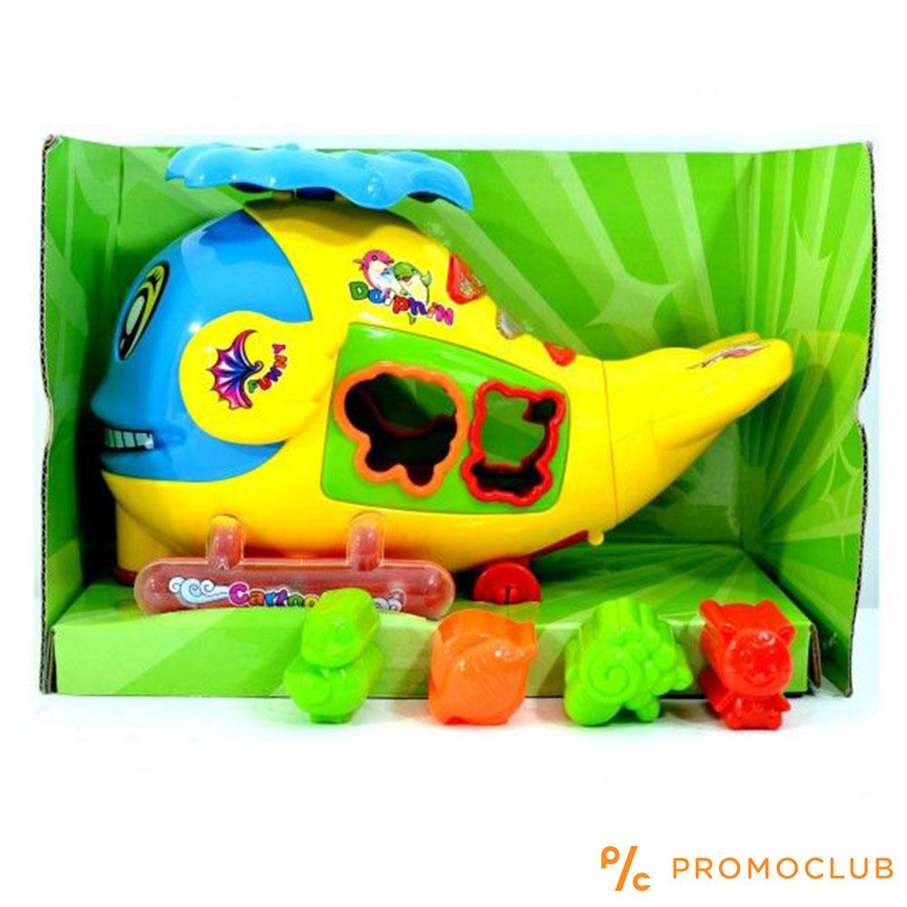 Crazy Dolphin - музкална светеща и движеща се играчка, 4 фигури за нацелване, 3  години