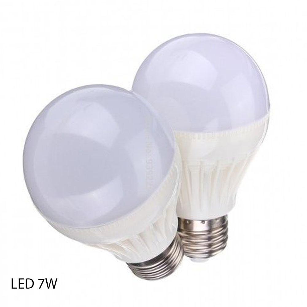 Ниска цена за 7W мощна и икономична LED крушка Е27 -студена бяла светлина 6000К