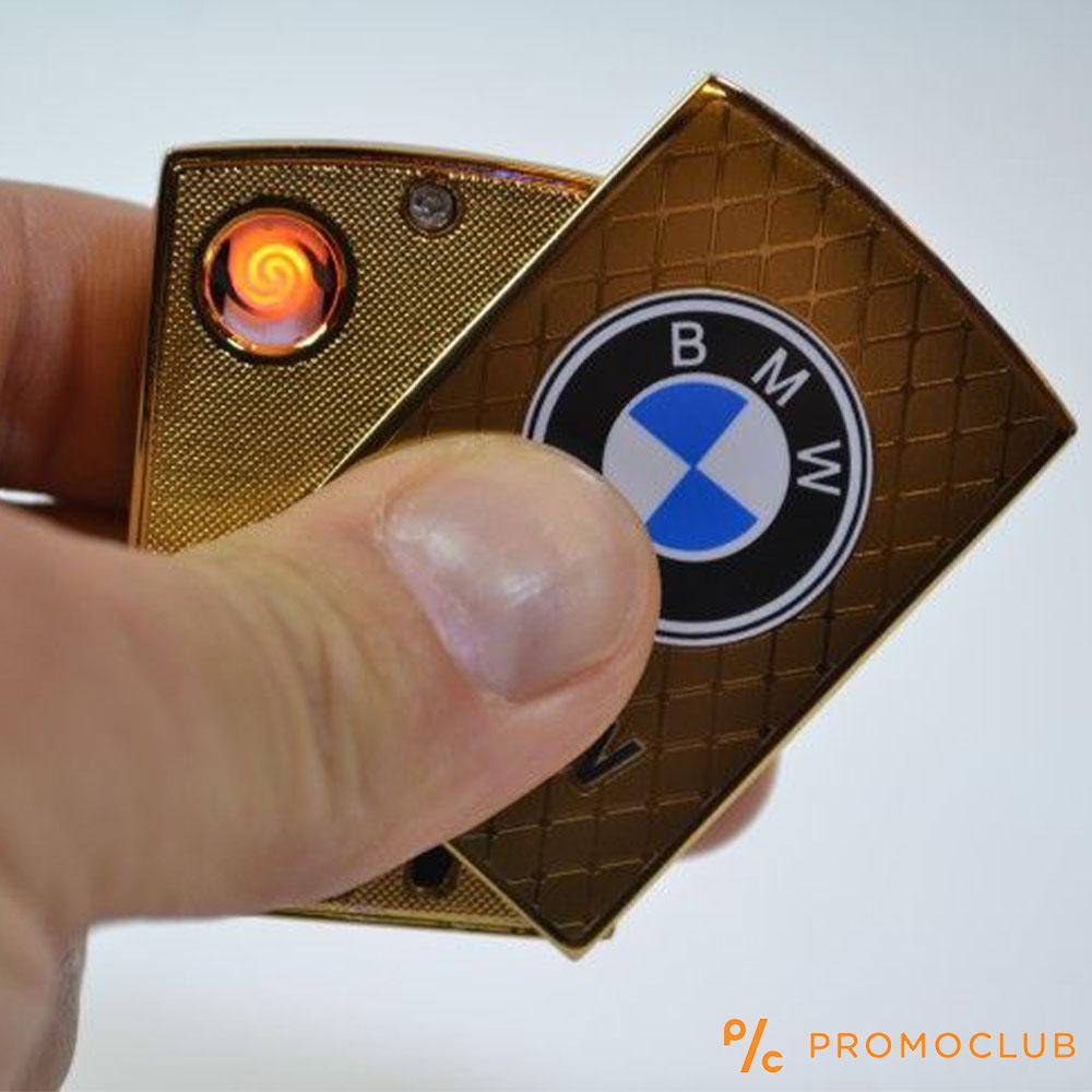 Луксозна ел. запалка BMW GOLD с вградена презареждаема батерия и в подаръчна кутия