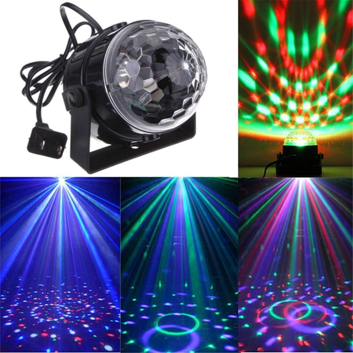 ПАРТИ СВЕТЛИНИ:музикално светлинно лазерно кълбо LED Cryst magic ball light XC-01 с флашка