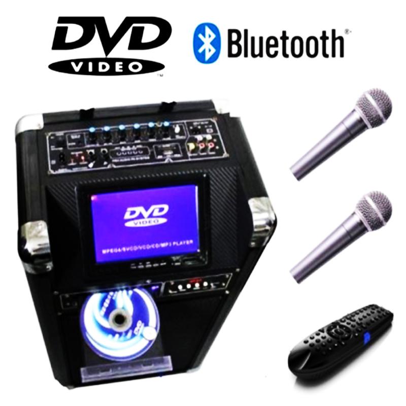 Караоке тонколона MBA DV-10 с всички екстри, микрофони и вграден DVD със 7-инчов дисплей
