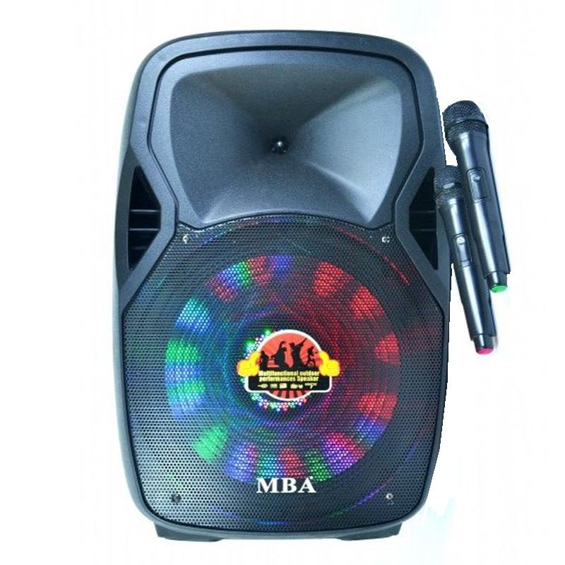 Акумулаторна караоке аудио система MBA Q15 440W с 2 безжични микрофони