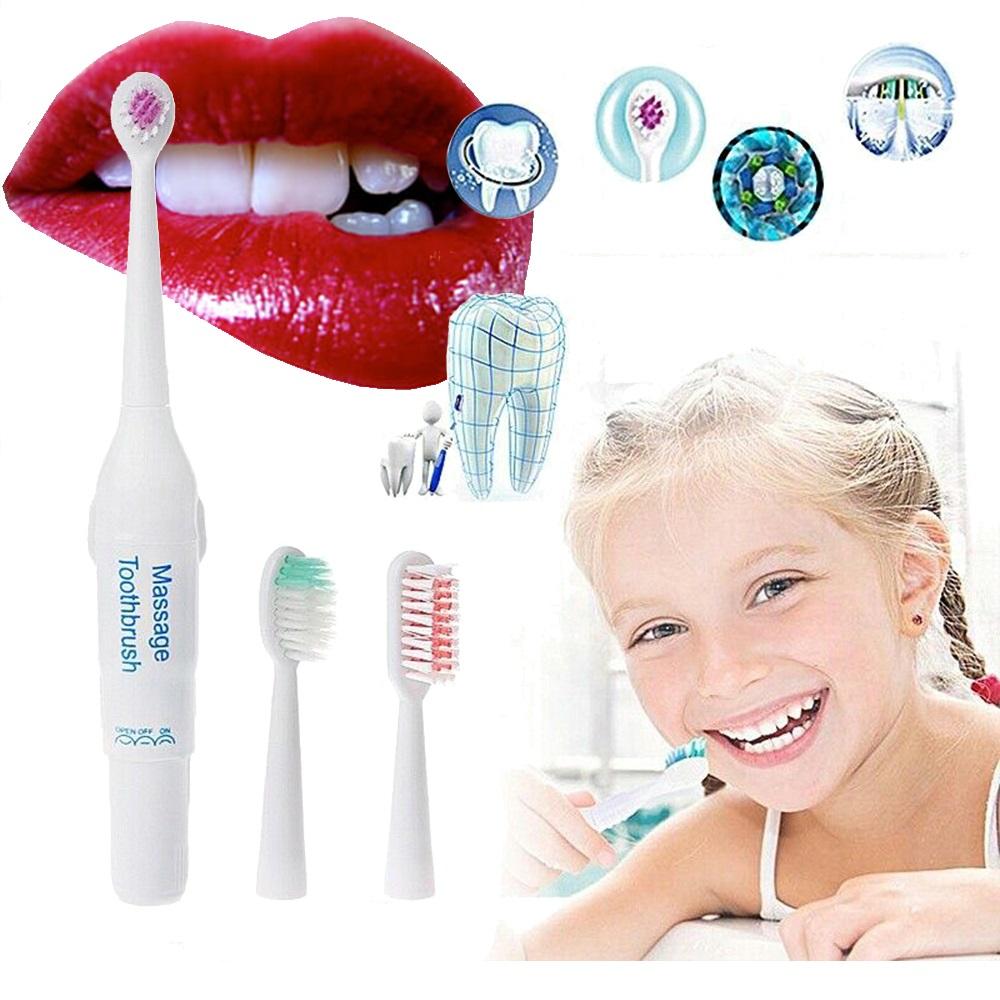 Ултразвукова електрическа четка за зъби с 3 глави на цената на обикновенните четки, 1 бат