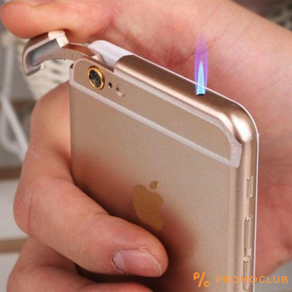 Супер атрактивна запалка iPhone 6 PLUS на газ- перфектно копие с вградено LED фенерче