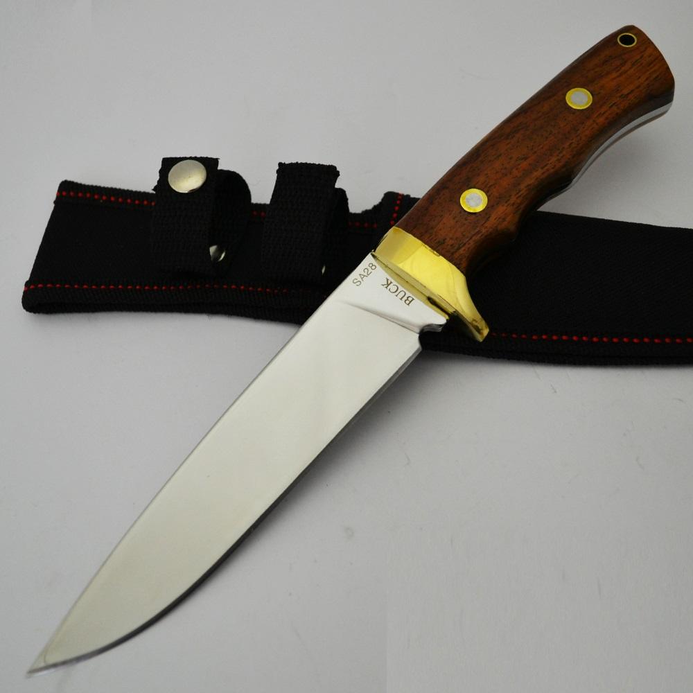 Американски военоморски нож BUCK S28 с орехова дръжка, ловен нож