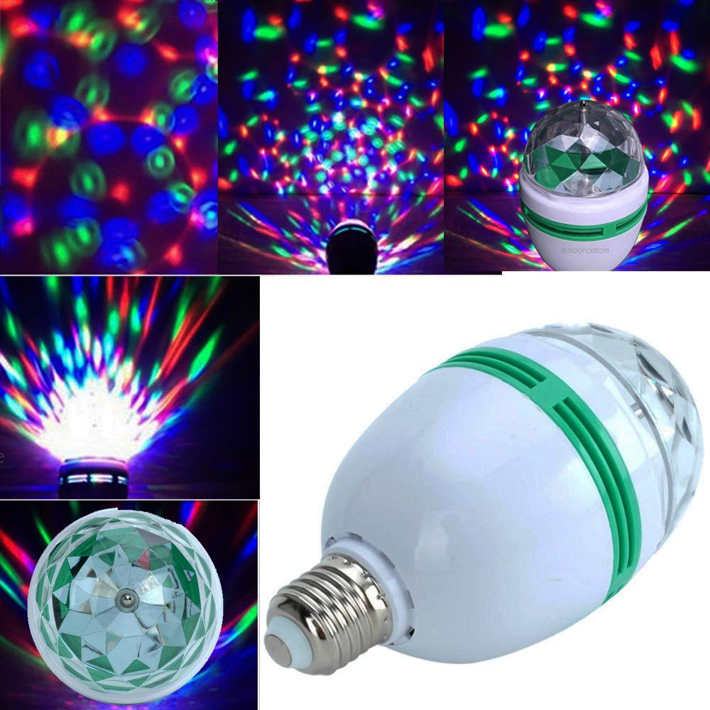 Въртяща се цветна диско парти LED лапма - ефектна, надеждна и икономична