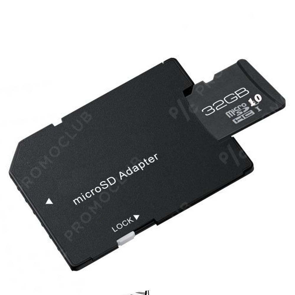 Карта памет 32 GB CLASS 10 на четене и запис, micro SD със SD адаптер , GOODRAM