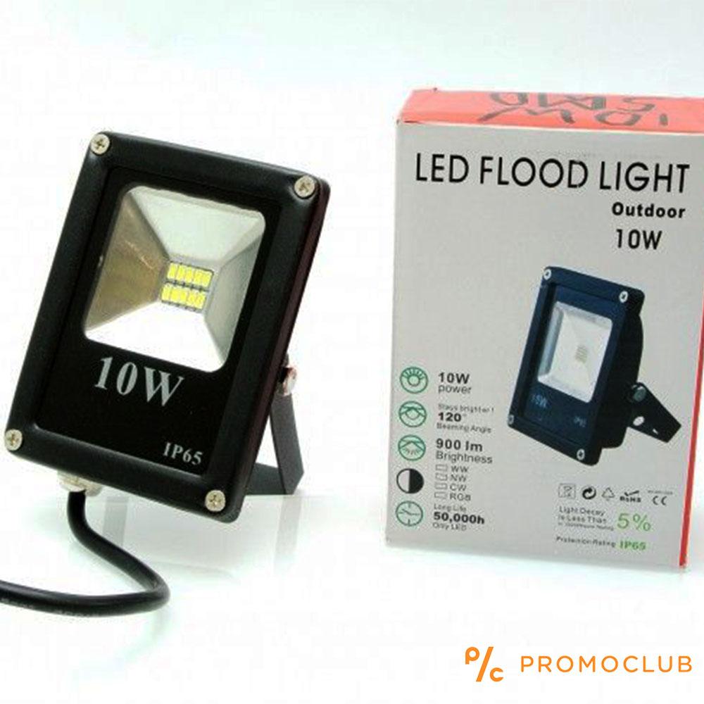 Елегантен и компактен 10W LED SLIM прожектор за външен монтаж 8 x 11 см