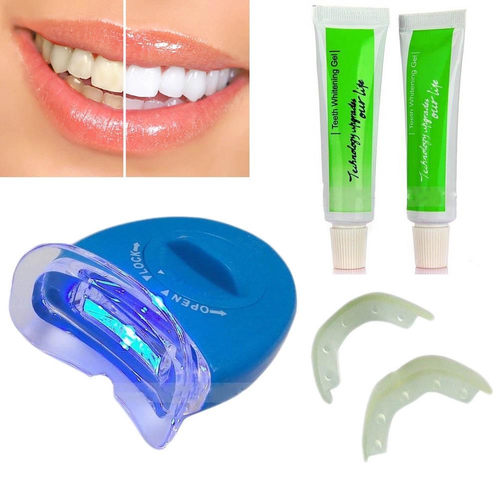 Експресна ултравиолетова система за избелване на зъби WhiteLight в домашни условия