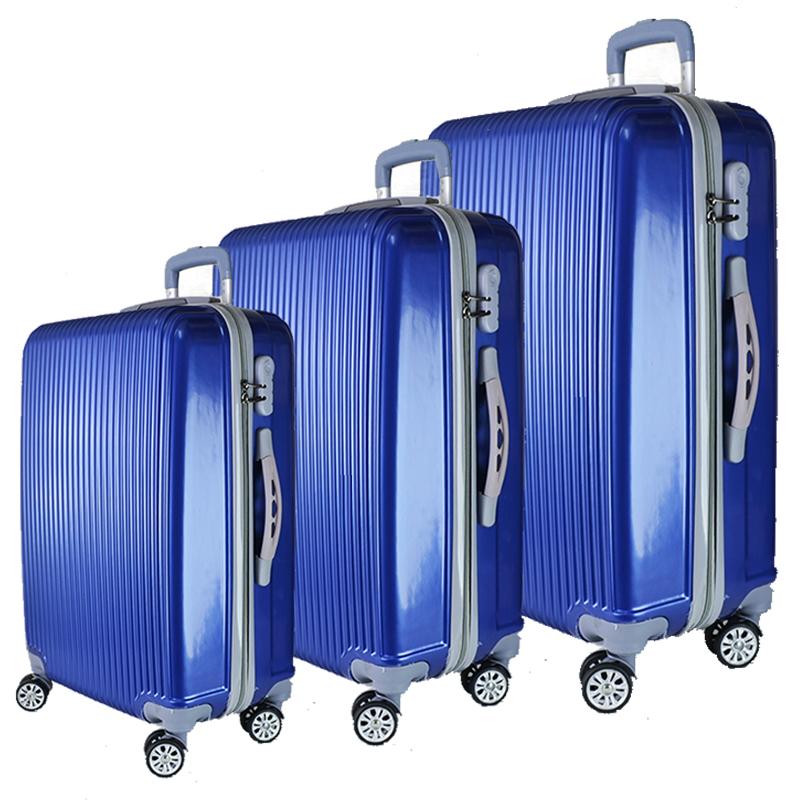 СУПЕР ПРОМО: комплект 3 броя твърди и леки куфари URBAN BUSINESS 6003 BLUE/009-2, ABS