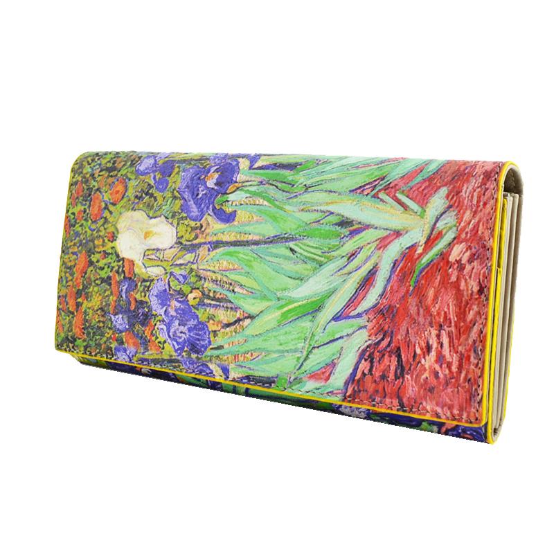 HIGH CLASS портфейл Ван Гог от естествена кожа и ръчна изработка