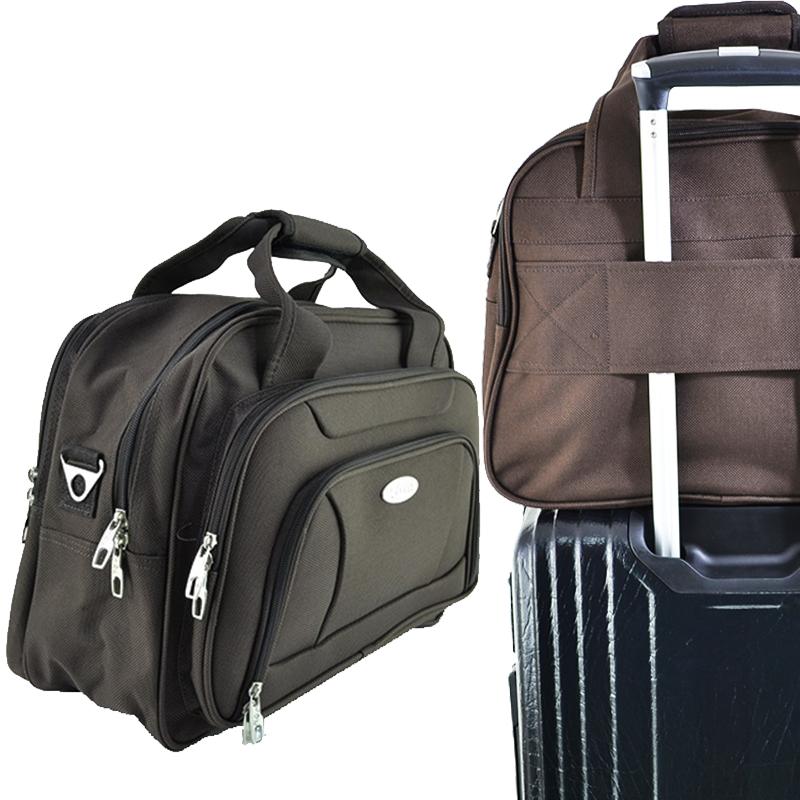 Куфарна авиочанта H.Q.C  45-32-25 сива/кафява за прикрепяне към куфара