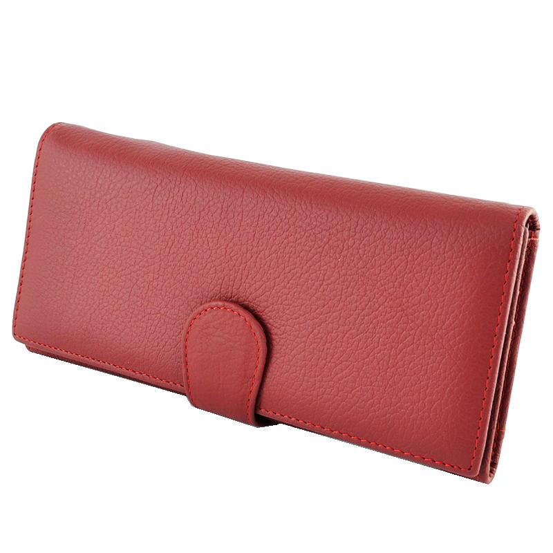 Дамски портфейл от естествена кожа TEMANLI 4202 RED CLASSIC